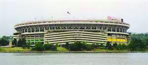 Three Rivers Stadium.
