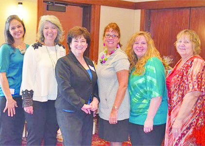 Mrs. Claus Club North Hills founder Jeana Watenpool with board members Angela Sefscik, Henny Weeden, Cathy Pitassi, Mindy Bogucki and Diane Paller.